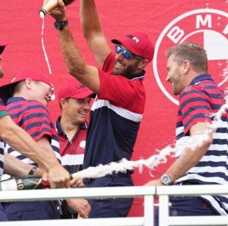 """Dustin Johnson admet qu'il """"adorerait"""" devenir capitaine de l'équipe américaine à la Ryder Cup"""