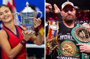 Emma Raducanu et Tyson Fury pourraient ne pas assister à la cérémonie de remise des prix de la personnalité sportive de l'année