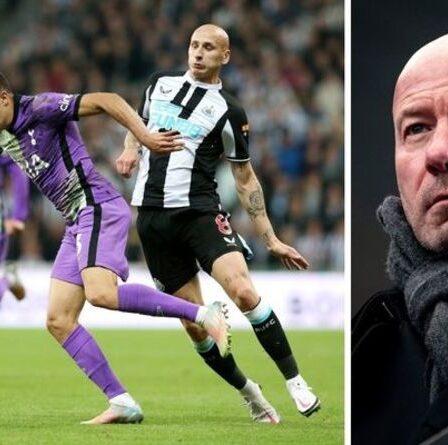 Le héros de Newcastle, Alan Shearer, furieux contre Jonjo Shelvey pour le carton rouge « stupide » de Tottenham