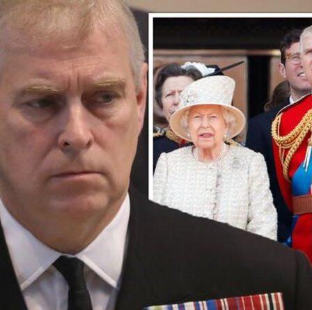 Le prince Andrew «est une honte» et ne devrait pas jouer un rôle dans l'expert en réclamations de la famille royale