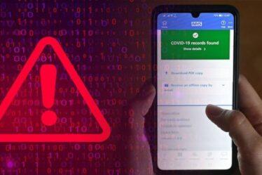 Les utilisateurs d'Android et d'iOS mis en garde contre la nouvelle escroquerie COVID Pass balayant le Royaume-Uni