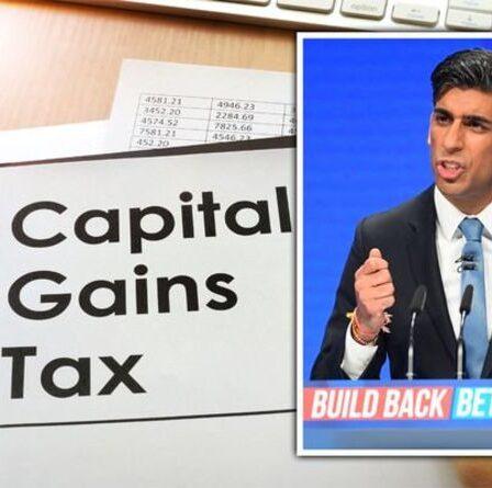 L'impôt sur les plus-values augmente la « prochaine étape logique » pour Rishi Sunak alors que les taux effectifs baissent
