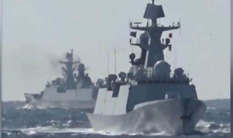 Poutine et Xi Jinping lancent un avertissement glacial à l'Occident avec des patrouilles navales conjointes Chine-Russie