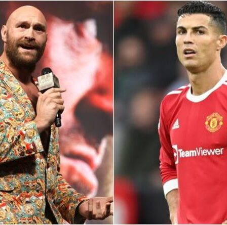 """Tyson Fury lance un avertissement à Cristiano Ronaldo malgré l'étiquette de la star de Man Utd """"GOAT"""""""